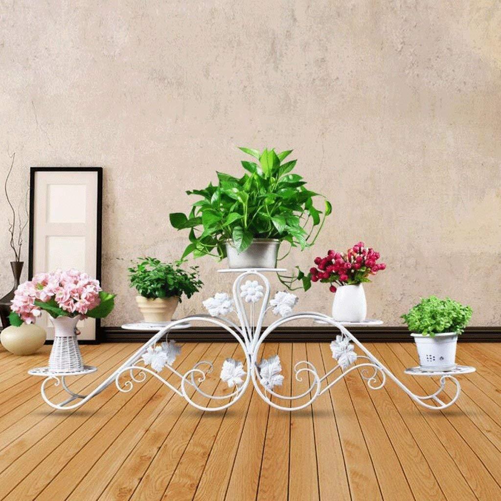 A Medium Gifts & Decor Plant Stand Shelf Flower Racks European Style Flower Frame Iron Multi - Storey Floor - Style Living Room Radish Flower Balcony Modern Simple Flower Pot Rack (color   A, Size   Medium)