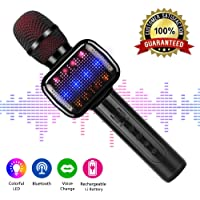 Micrófono Inalámbrico, Portátil Micrófono Karaoke Bluetooth con Altavoz