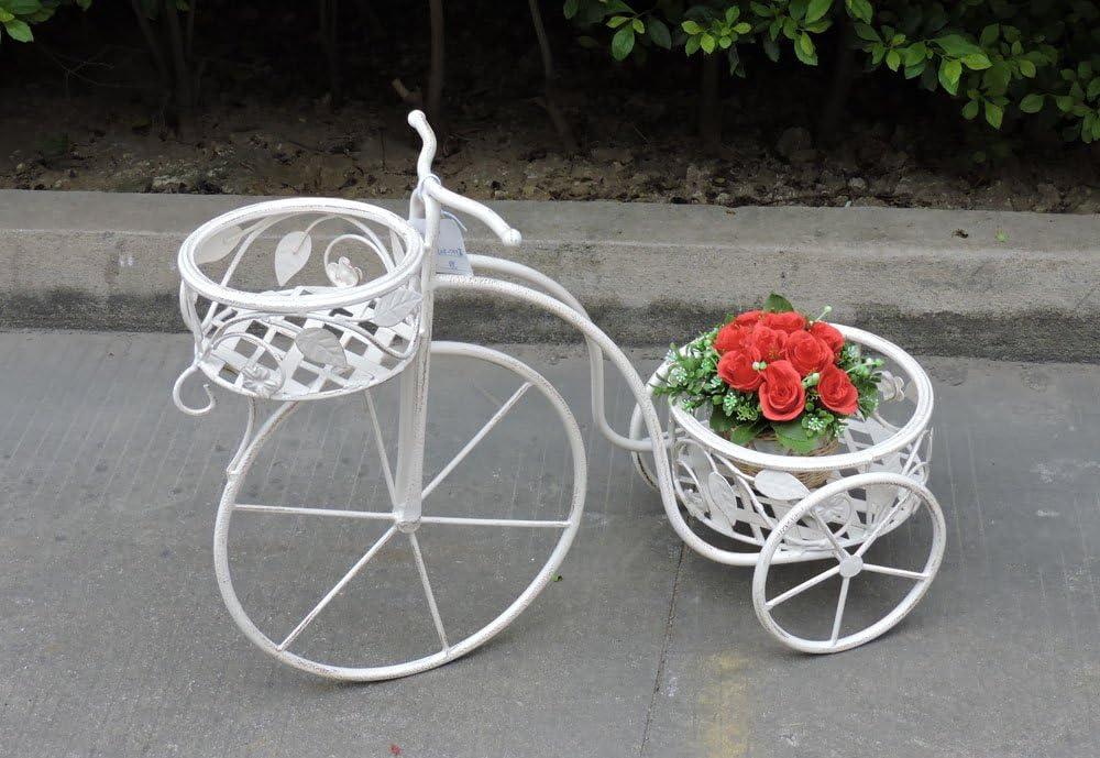 Way Home Store Bicicleta Maceta Decorativa de Hierro 65x 26x 46cm