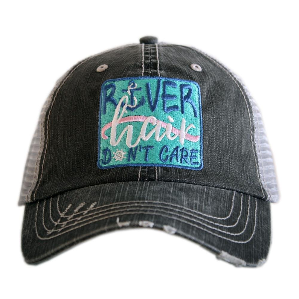 Katydid River Hair Don't Care Women's Hats Caps (Patch)