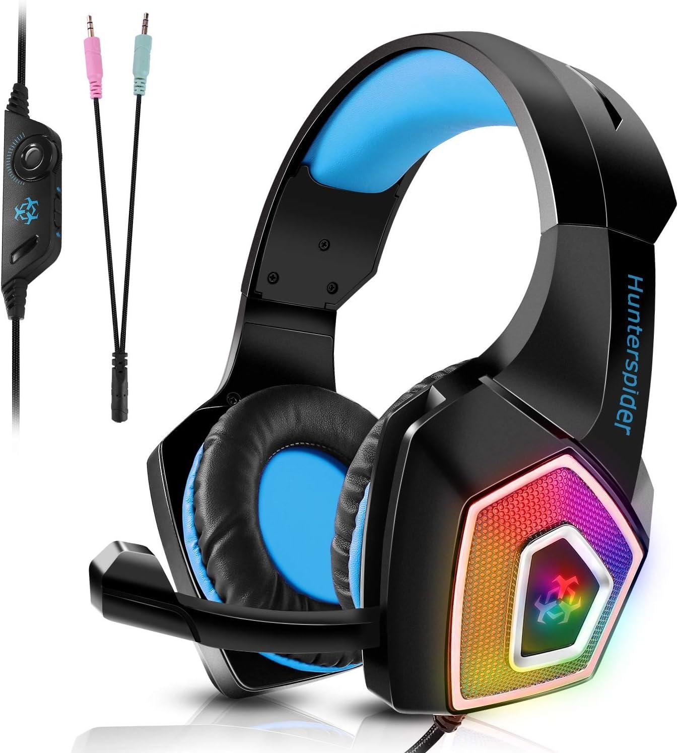 TENSWALL PS4 Auriculares gaming para PS4 o PC, Cascos Gaming con ...