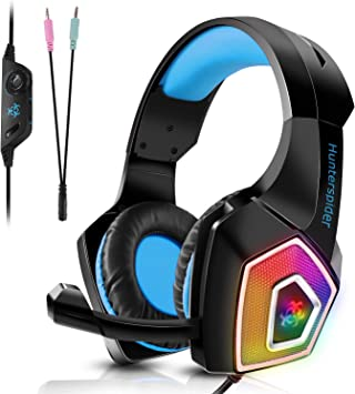 TENSWALL PS4 Auriculares gaming para PS4 o PC, Cascos Gaming con ...