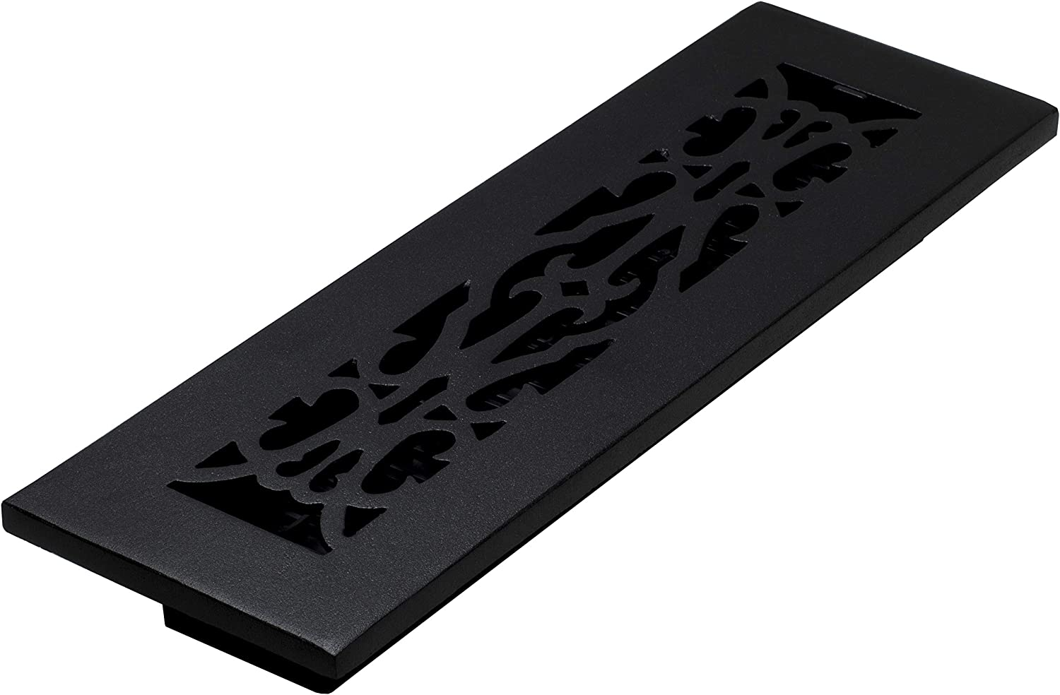 Decor Grates AC212-BLK Victorian Floor Register, 2 x 12, Cast Iron Black