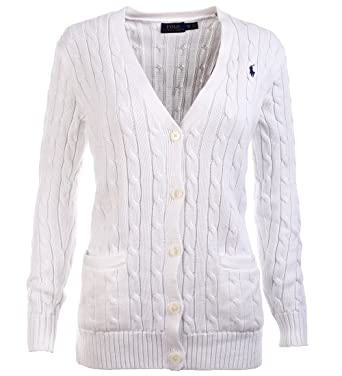 Polo Ralph Lauren Damen Cardigan Strickjacke weiß Größe XS