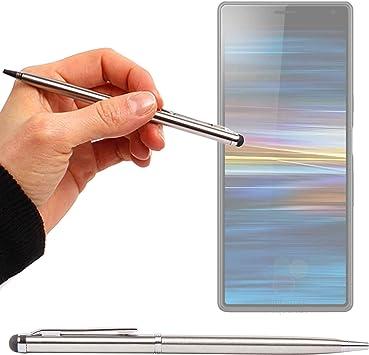 DURAGADGET Lápiz Stylus Plata + Bolígrafo (2 En 1) para Smartphone ...