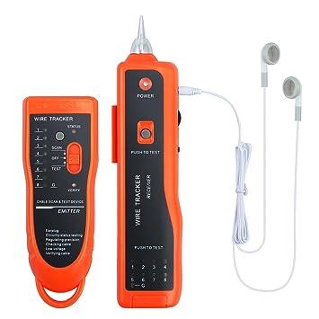 Netzwerk Kabelsucher Kabeltester Kabelfinder Telefonleitungstester Leitungssucher f/ür LAN Ethernet RJ45 RJ11 und Telefonkabel Leitungsdetektor