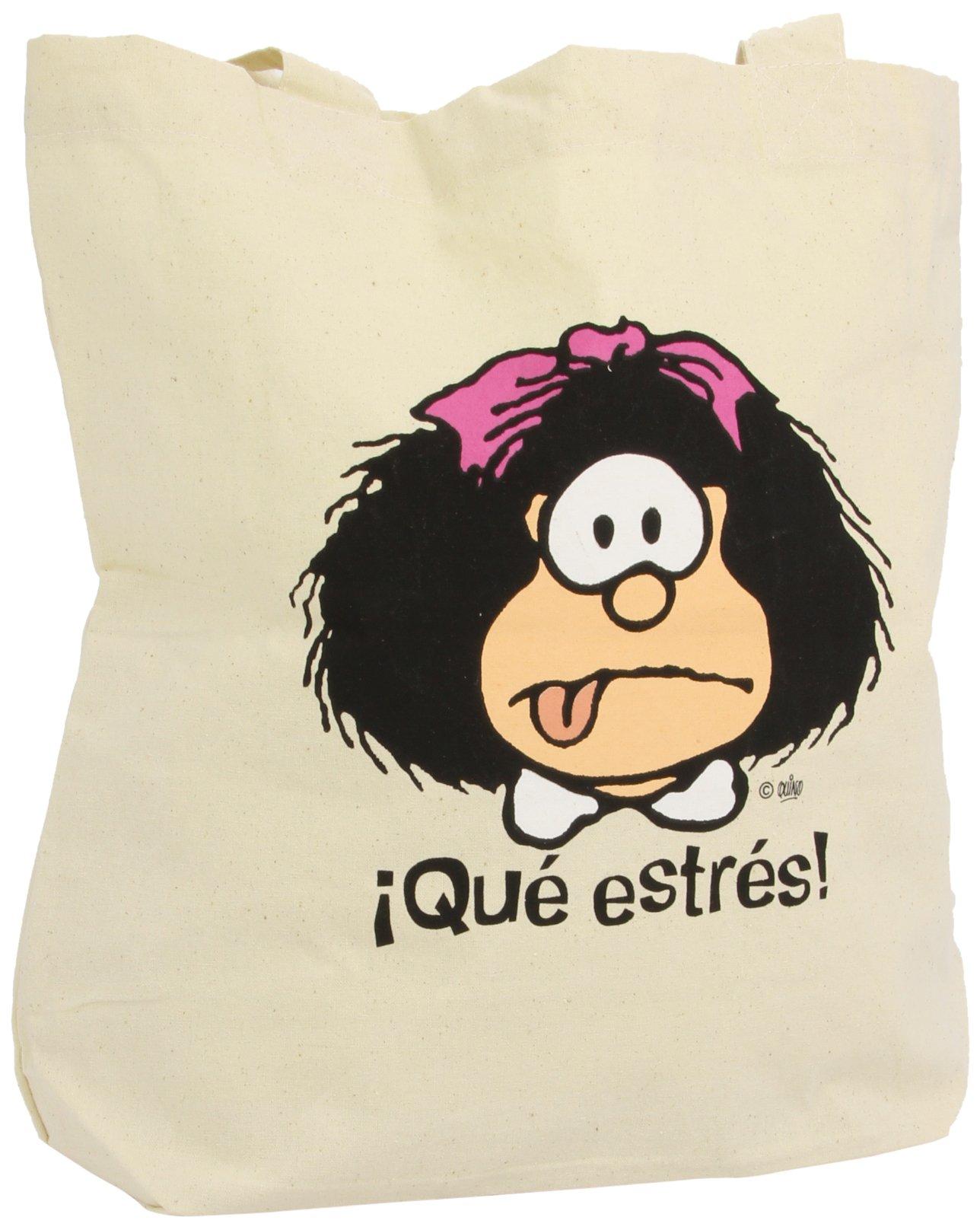 BOLSA MAFALDA QUE ESTRES: Amazon.es: Quino: Libros