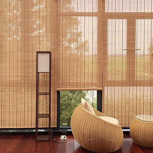 Persiana de bambú Persiana Exterior Enrollable con Accesorios ...