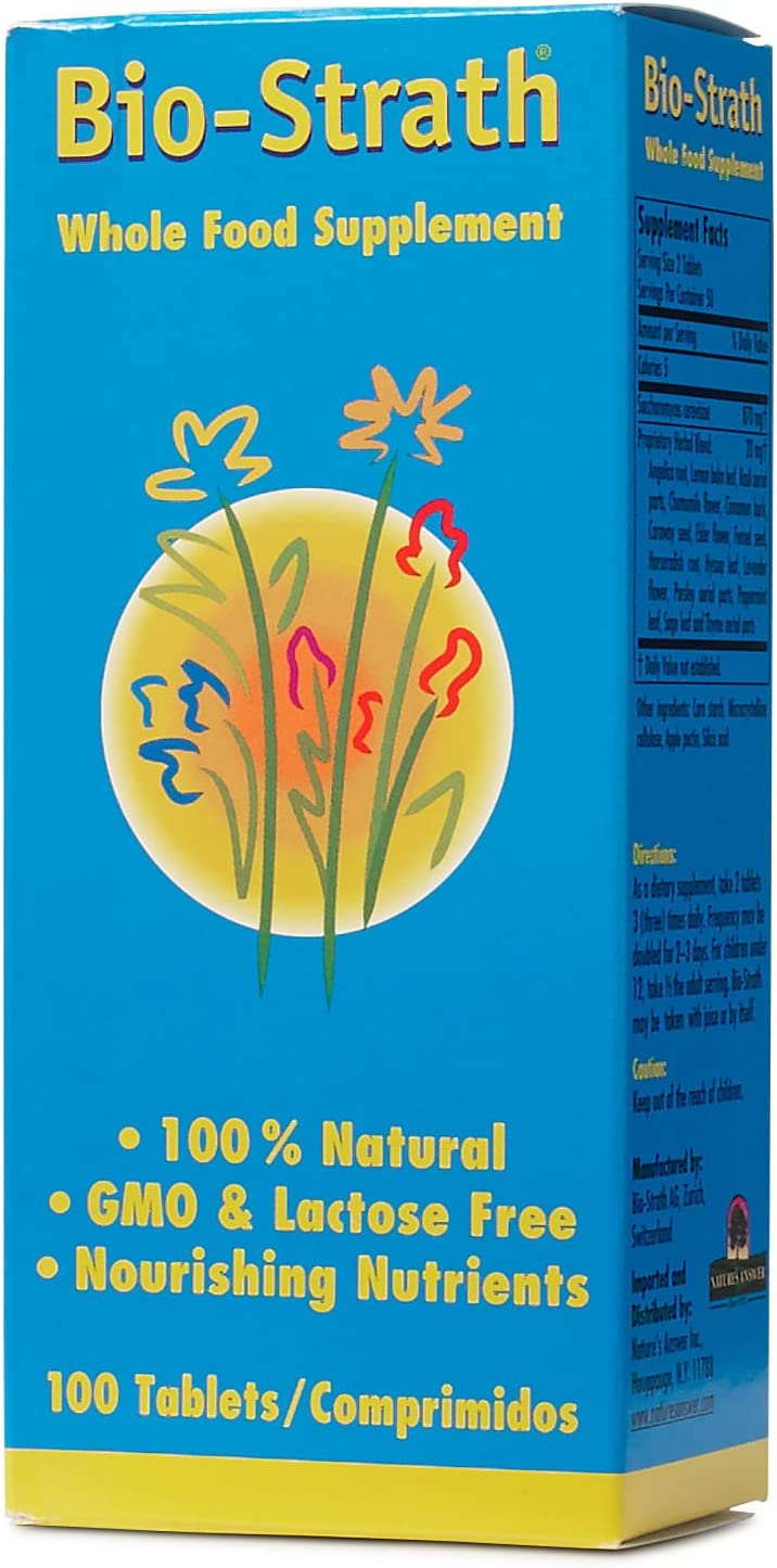 BioStrath Whole Food Supplement for Energy Memory Support 500 MG (100 Tablets)