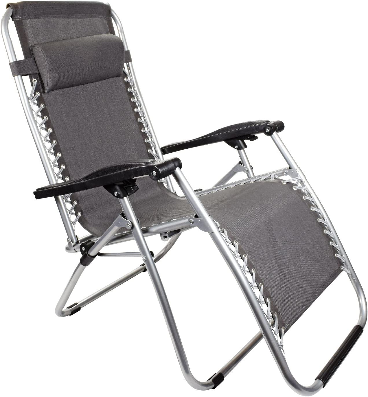My Garden Path Textoline Reclining Zero Gravity Chair Grey
