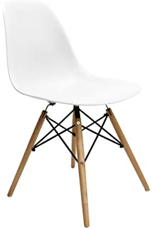 Nicer Furniture® Set Of Two (2) White   Eames Style Side Chair With