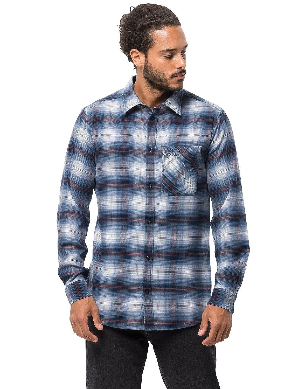 Jack Wolfskin Mens Light Valley Shirt Performance Plaid Lumberjack Shirt