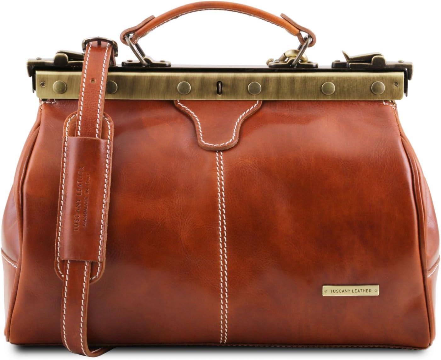 Tuscany Leather TL10038//3 Doctor gladstone leather bag Honey Michelangelo