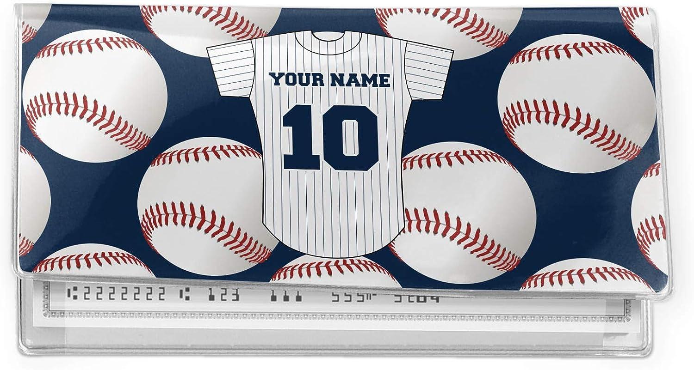 Baseball Jersey Vinyl Checkbook Cover (Personalized)