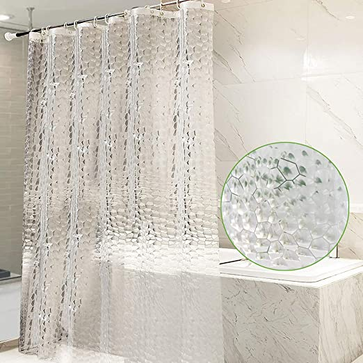 """71/""""X78/"""" With Hooks~ Bathroom Shower Curtain Extra Long Wide 180 x 200 cm"""