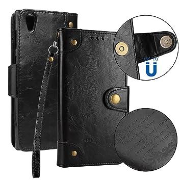 Sony Xperia L1 móvil, cowx Teléfono Móvil Piel Flip Case ...