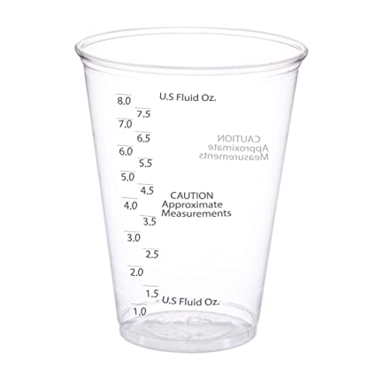 50 Pack - 10 oz. Size - Ultra Clear Plastic Mixing Measuring Cups - Best