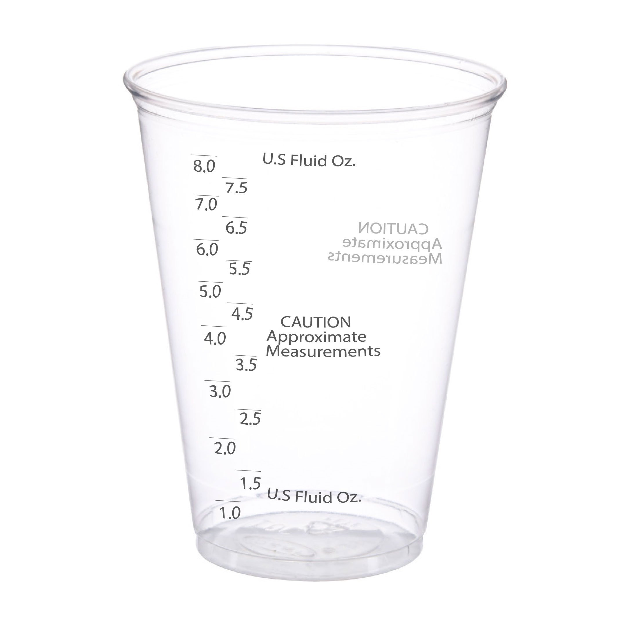 50 Pack | 10 oz. Size | Ultra Clear Plastic Measuring Cups | Best Value | Graduated Mixing | for Resin, Epoxy, Stain, Pour Art, Paint | Disposable Pack