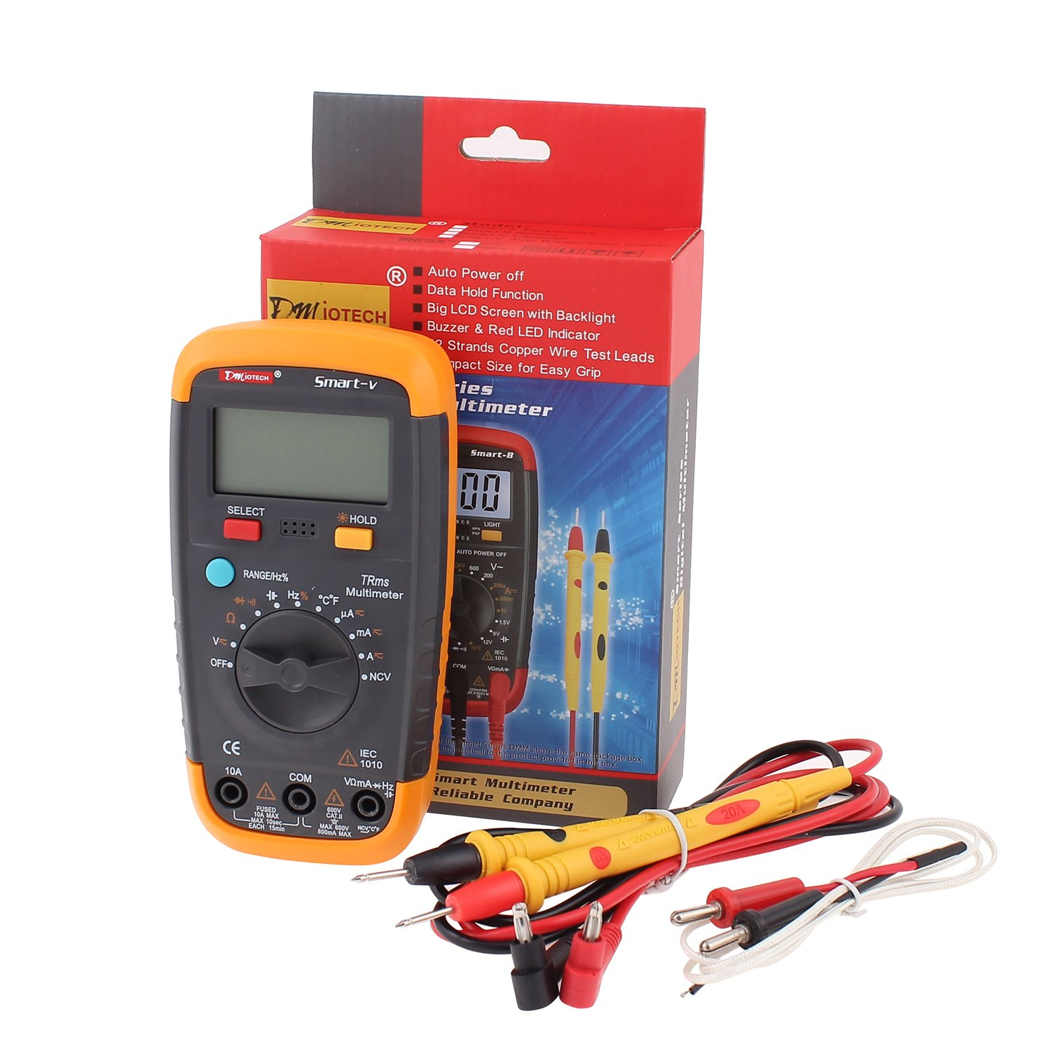 Amazon com innova 3320 auto ranging digital multimeter automotive - Dmiotech Digital Multimeter True Rms Auto Ranging Ac Dc Voltage Current Capacitance Frequency Duty Cycle Temperature Ncv Lcd Backlight 5999 Count With