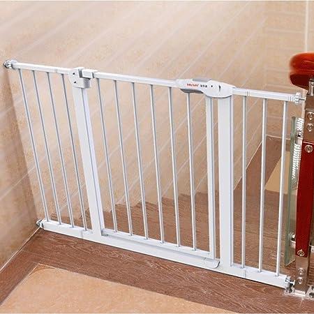 HONGAN Puerta De Bebé Valla For Perros Poste Escalera Barandilla Puerta De Seguridad For Niños Cerca De Valla For Bebés Aislamiento For Mascotas Barra De Puerta Perforadora Gratis: Amazon.es: Hogar