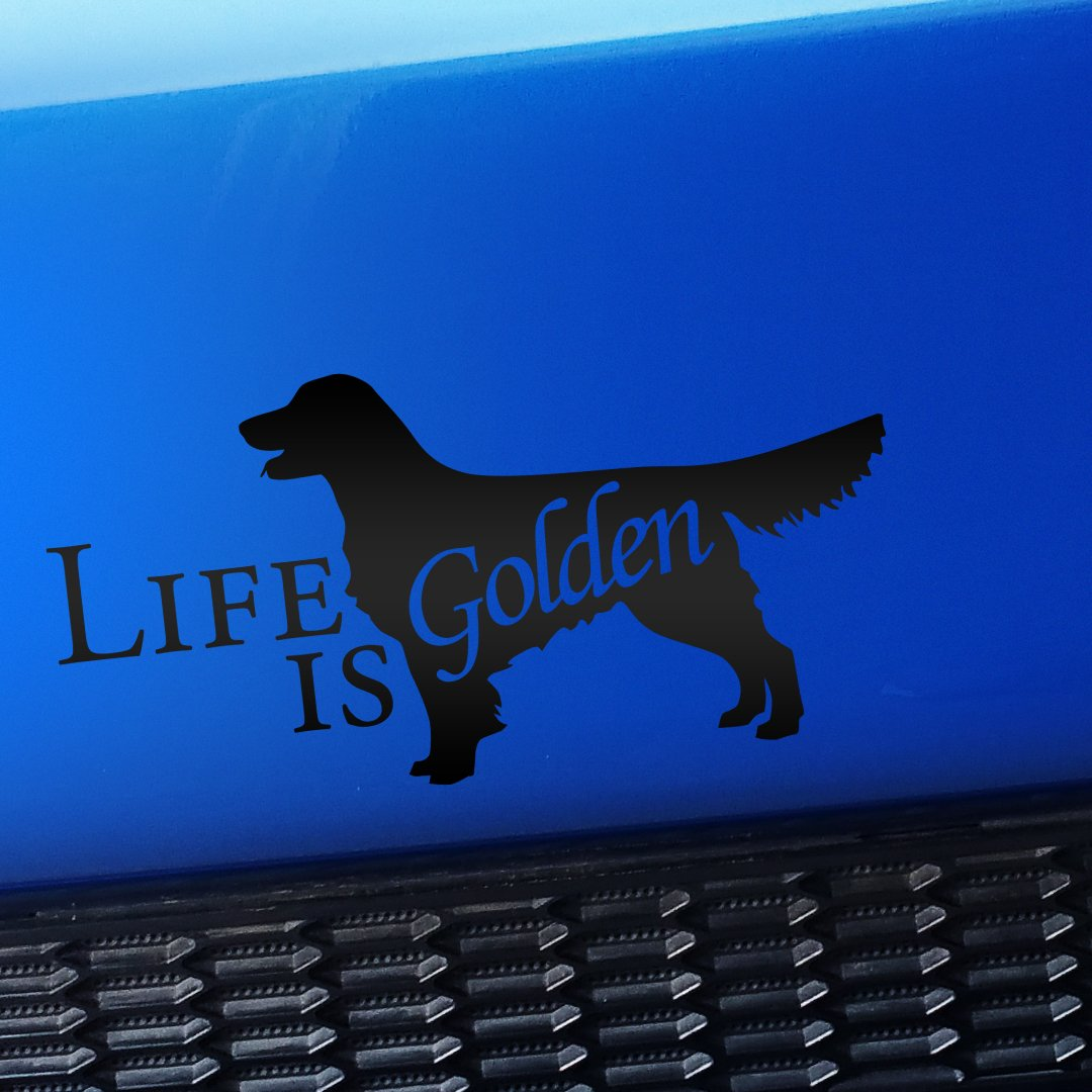 Life Is Golden Is – Vinyl Decal – Decal Chooseカラー D089-54 マットブラック マットブラック B075FJQM9Z, ペットスタジオ:0091225b --- mail02.ferraridentalclinic.com.lb