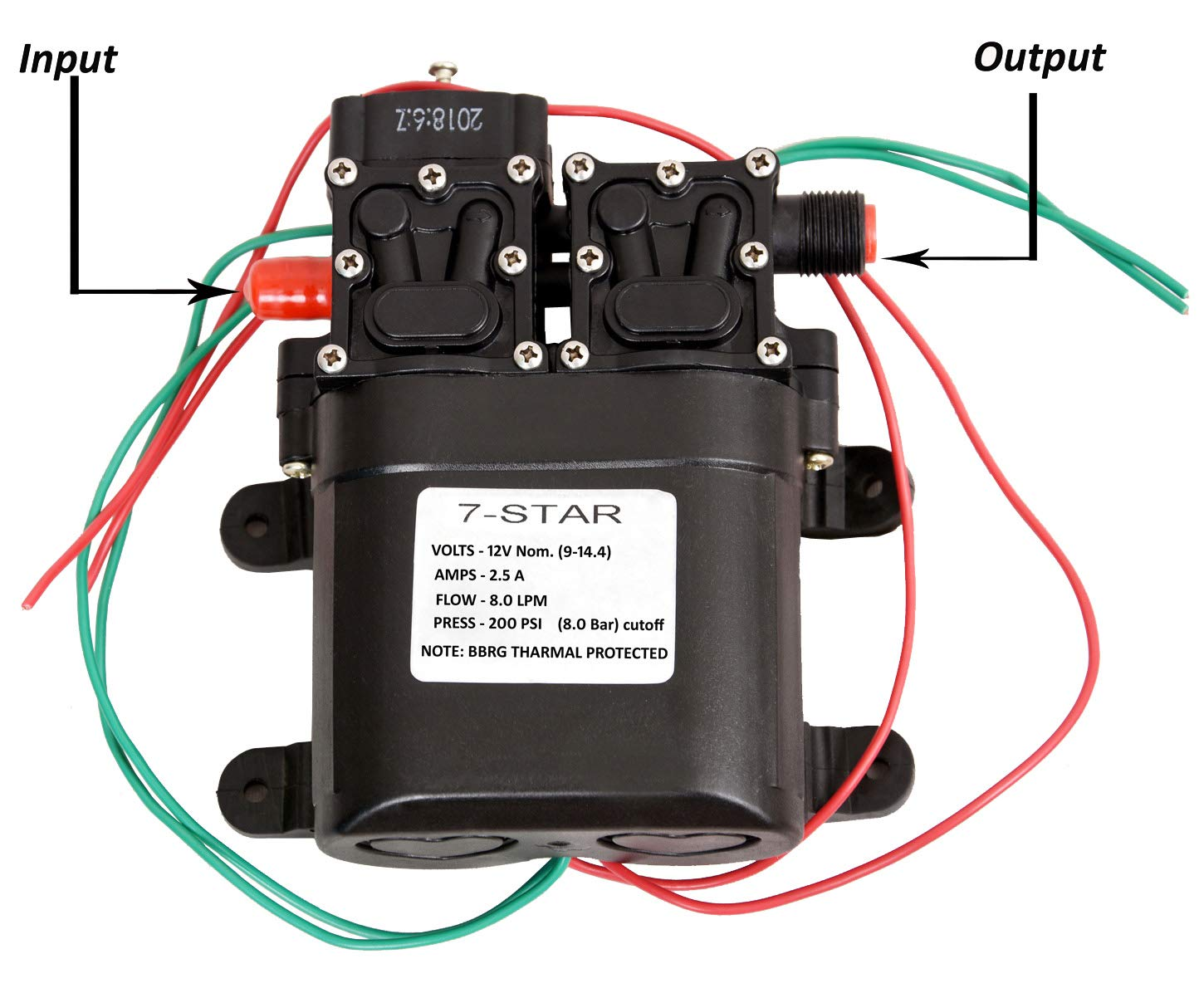 Amazon price history for 7star 8.0 LPM/12 V DC Double-Core Self Priming Battery Sprayer Motor Diaphragm Water Pump