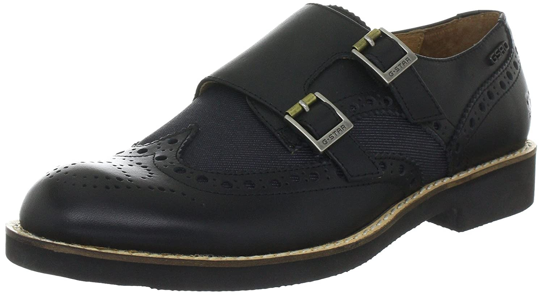 G-STAR RAW Eton Monk Mix Womens Leather Shoes - Black - SIZE UK 5 ... c822f7aa33