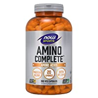 NOW Sports Nutrition, Amino Complete, Protein Blend With 21 Aminos and B-6, 360-...