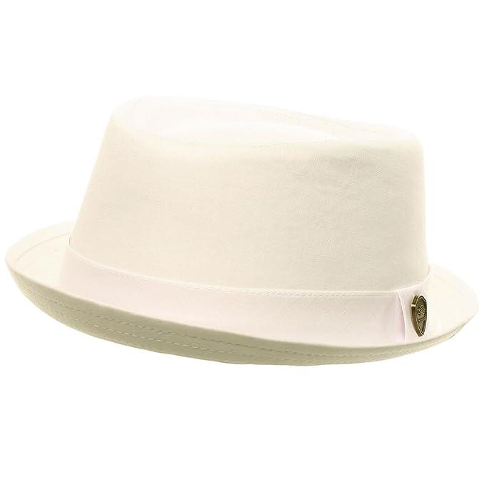 bb0a70fcf SK Hat shop Men's Summer Cotton Upturn Brim Retro Lining Pork Pie ...