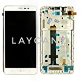 LAYCANZ Original. Xiaomi Redmi Note 3 White Bezel Frame Full Assembly LCD Display + Touch Digitizer Glass