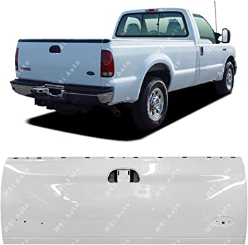 Amazon Com Mbi Auto Painted Yz Z1 Oxford White Tailgate For 1997 2003 Ford F150 1999 2007 Super Duty 99 07 Fo1900113 Automotive