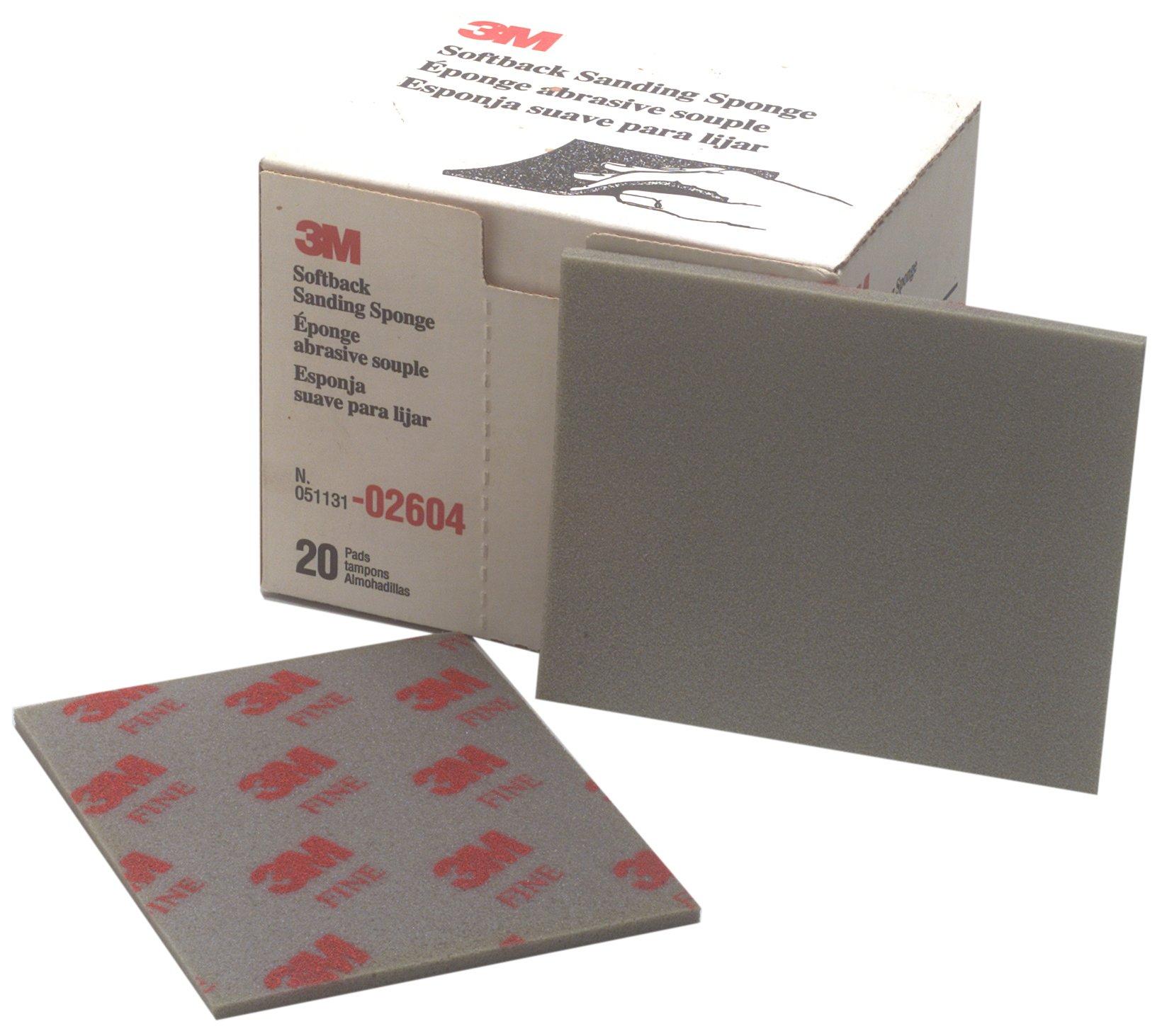 3M 02604 4-1/2'' x 5-1/2'' Fine Softback Sanding Sponge (Pack of 6) by 3M (Image #1)