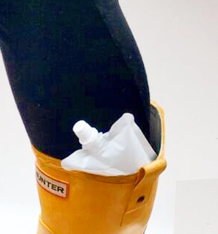 Compra Petaca secreta Pouches (4 unidades) smuggle su Booze, sujetador de ocultar Alcohol en, botas, ropa interior a festivales/conciertos/Estadios en ...