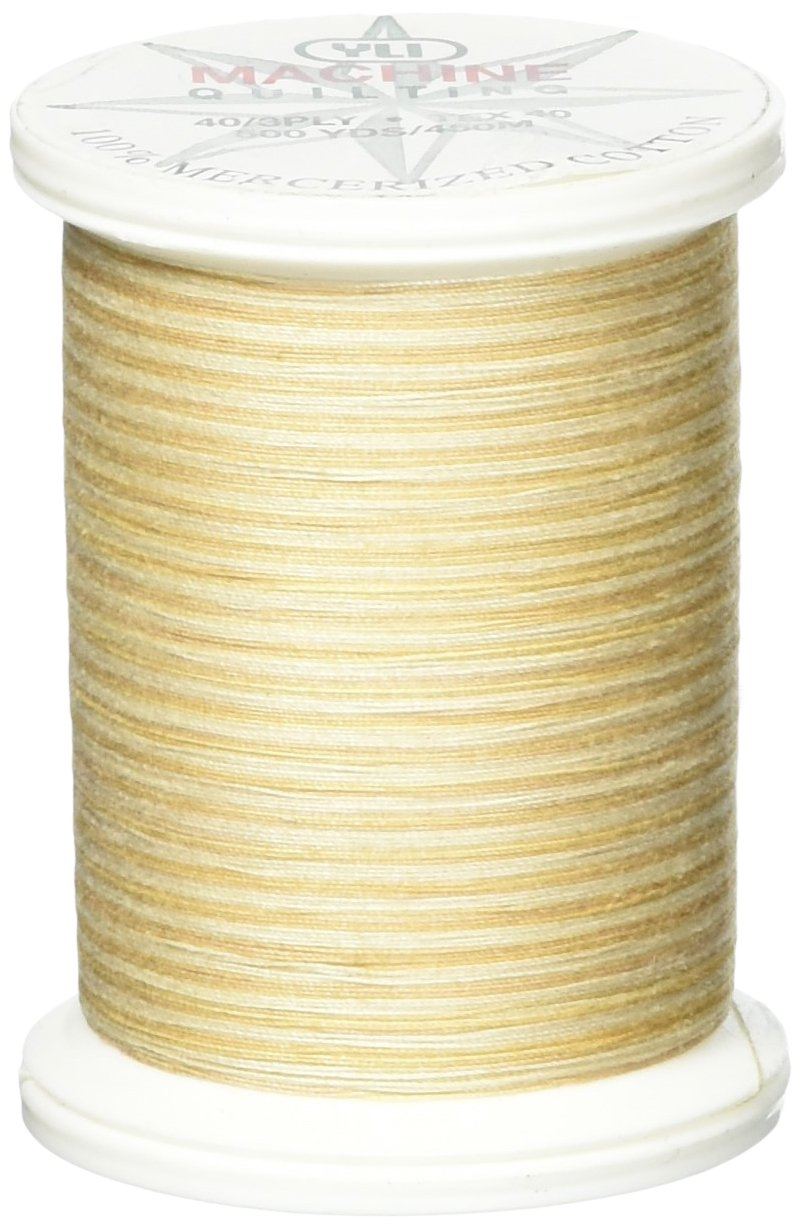YLI 24450-V81 3-Ply 40wt T-40 Cotton Quilting Variegated Thread, 500 yd, Pyramids of Giza by YLI   B0018N9NGK