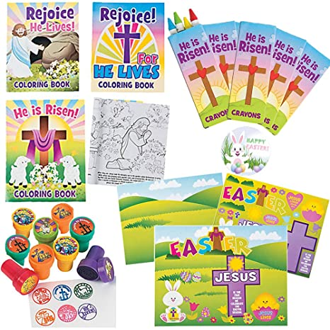 Amazon Com Easter And Sunday School He Lives Activity Craft Kit