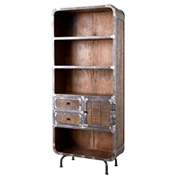 Möbel Ideal Bücherregal Saigon Regal Aus Mangoholz Und Metall
