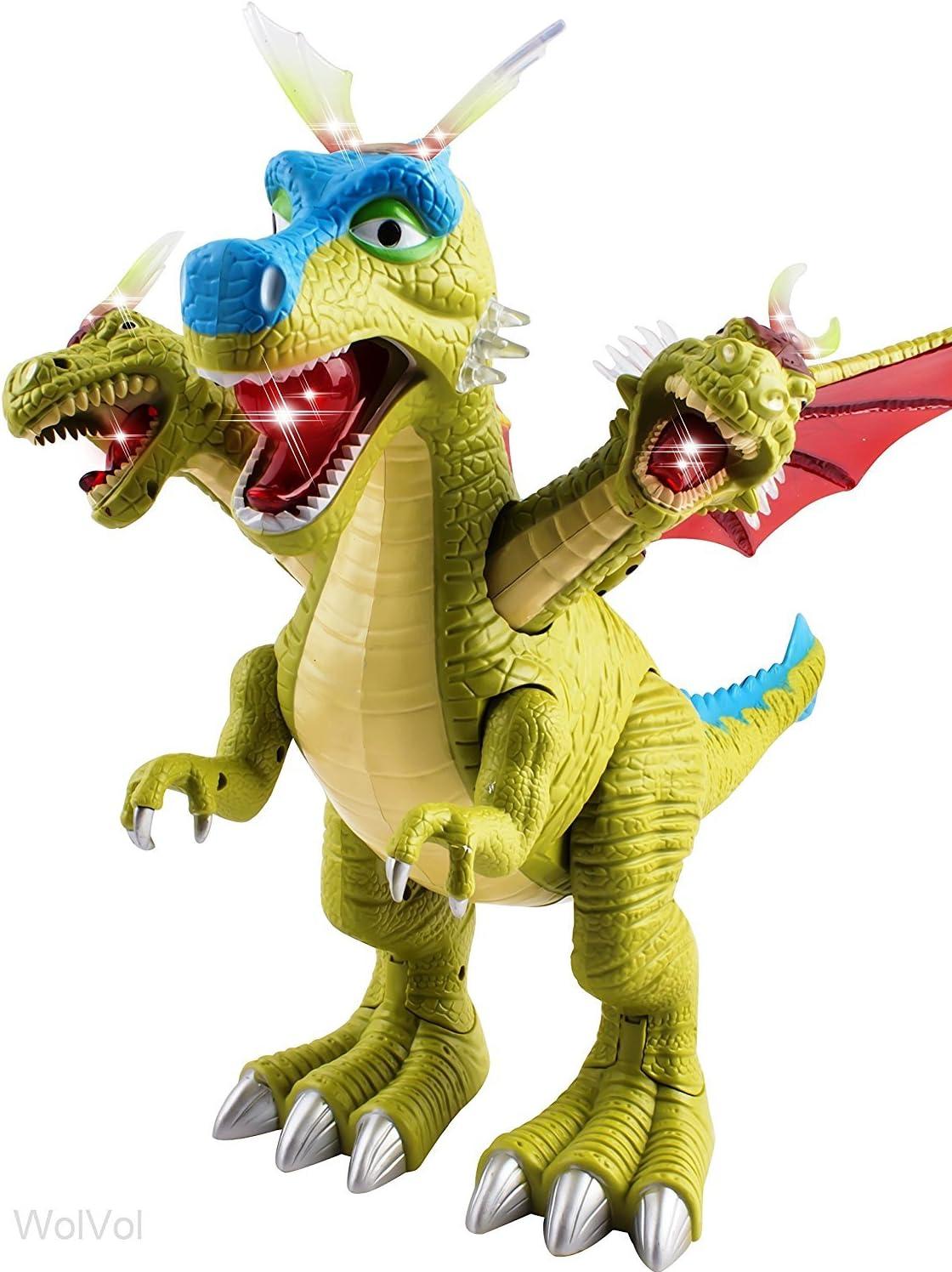 Luces Y Movimiento Gift Set Reino Unido Caminando Triceratops Dinosaurio De Juguete Con Sonidos