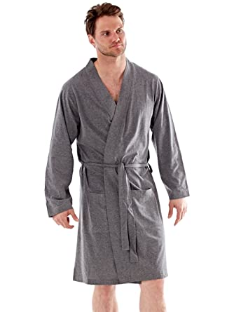 Mens Dressing Gown Lighweight Cotton Rich Jersey Summer  Amazon.co.uk   Clothing 530ab6645