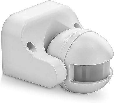 Bewegungsmelder Infrarot 230V max.1200W  Weiß für Innen und  Außen IP44