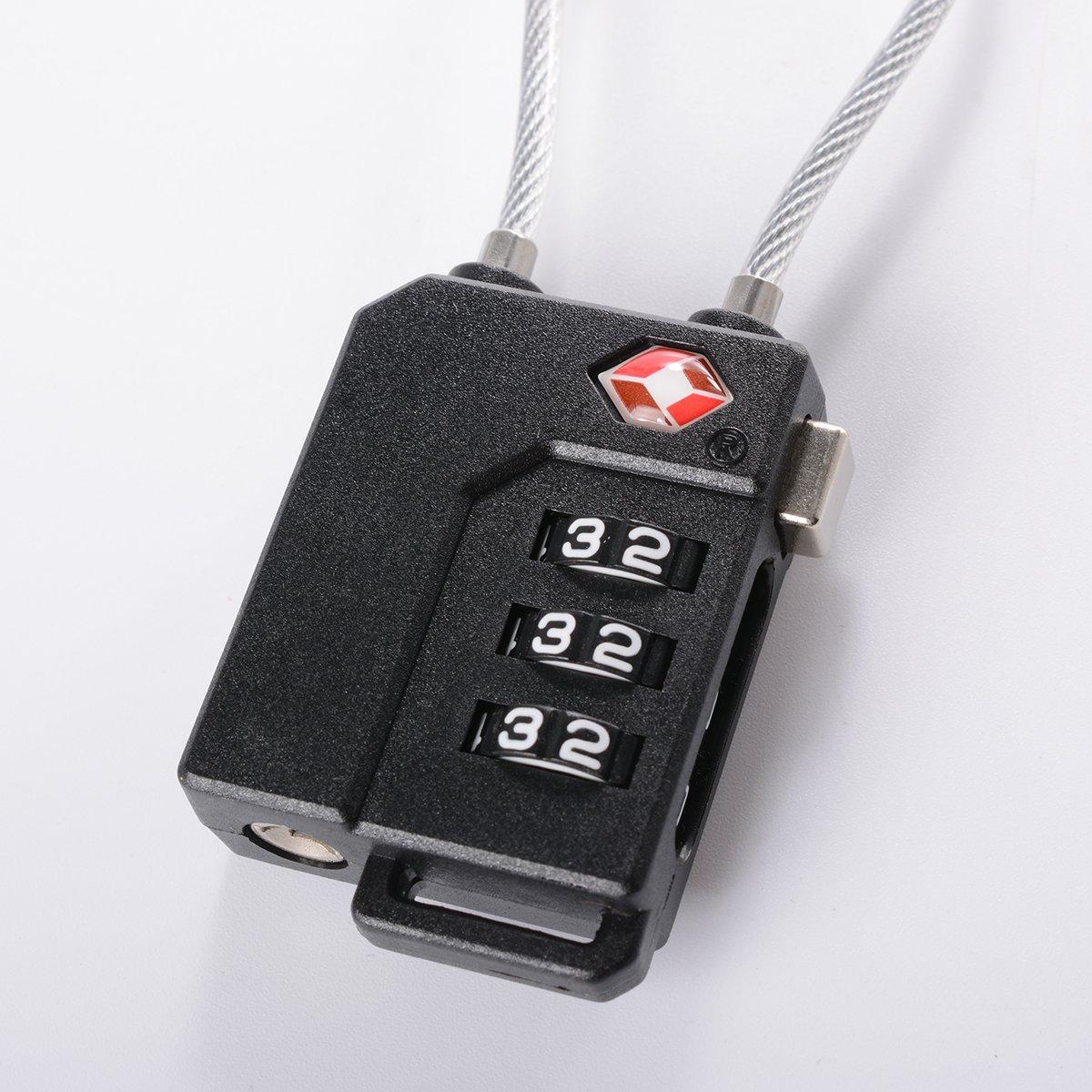 XCSOURCE 2Pcs Verrou Valise Voyage /à Code de Verrouillage Combinaison de S/écurit/é Serrure /à Combinaison 3 Chiffres Noir TSA HS268