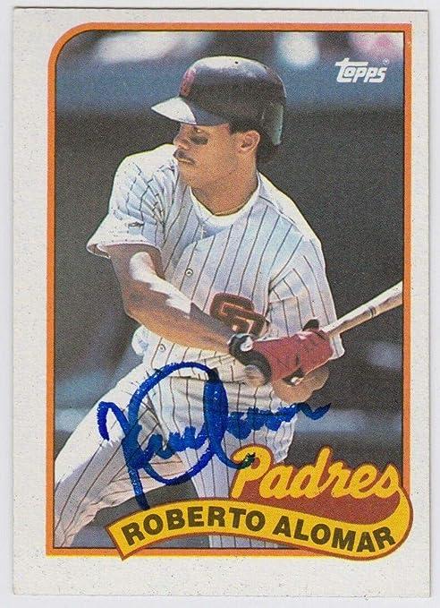 1989 Topps Roberto Alomar Auto Autograph Signed Card 206