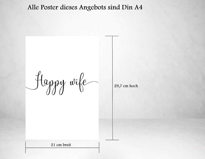 Bild mit Spruch als Schlafzimmer Poster ohne Rahmen 4Good