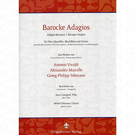 barroca adagios - Arreglados para flauta travesera - Guitarra [de ...