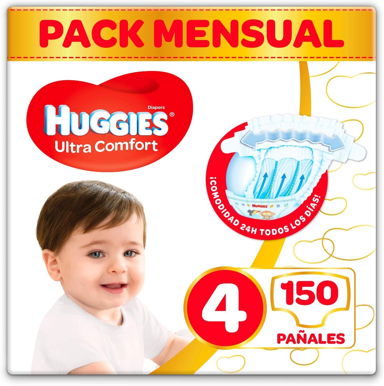 Huggies Ultra Comfort Pañales Talla 4 (7-18 kg) - 150 pañales