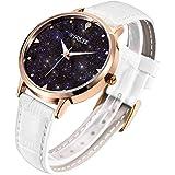 S2SQURE 腕時計 レディース 星 日本製クオーツ おしゃれ 女性 ステンレス ウォッチ ローズゴールド 夜光 (ゴールド)