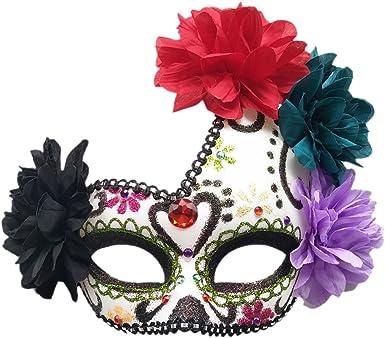White Brand New Skeleton Face Mardi Gras Masquerade Mask