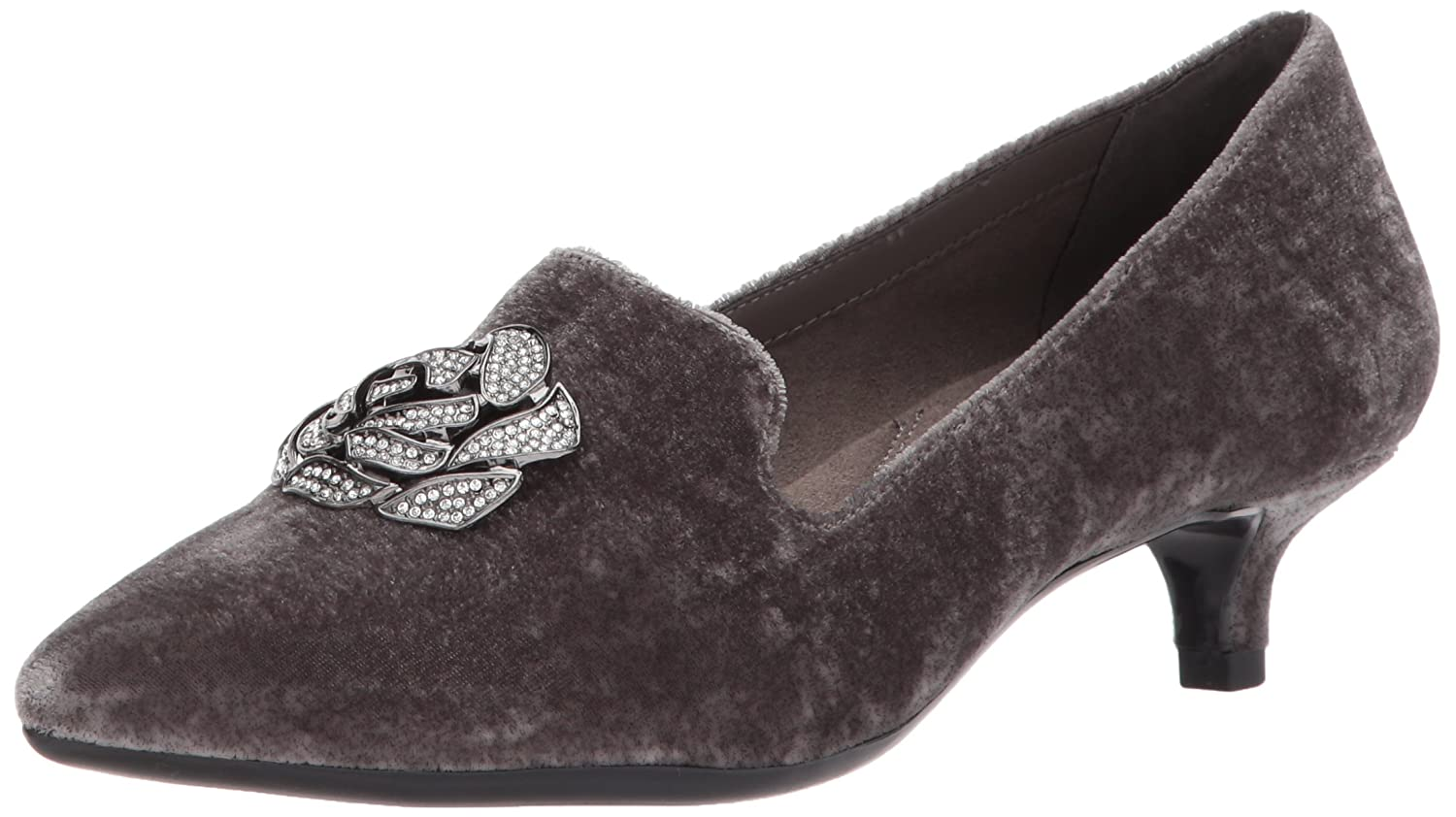 Aerosoles Women's Best Dressed Pump B06Y5YDT6W 10.5 B(M) US|Grey Fabric