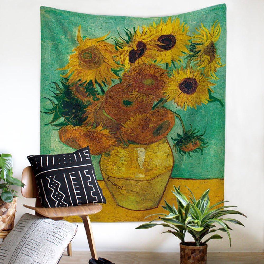 Polyester 78x59 Starry Night salon Tenture murale classique /à suspendre repr/ésentant le Nuit /étoil/ée sur le Rh/ône de Vincent Van Gogh Zhh D/écoration pour chambre /à coucher