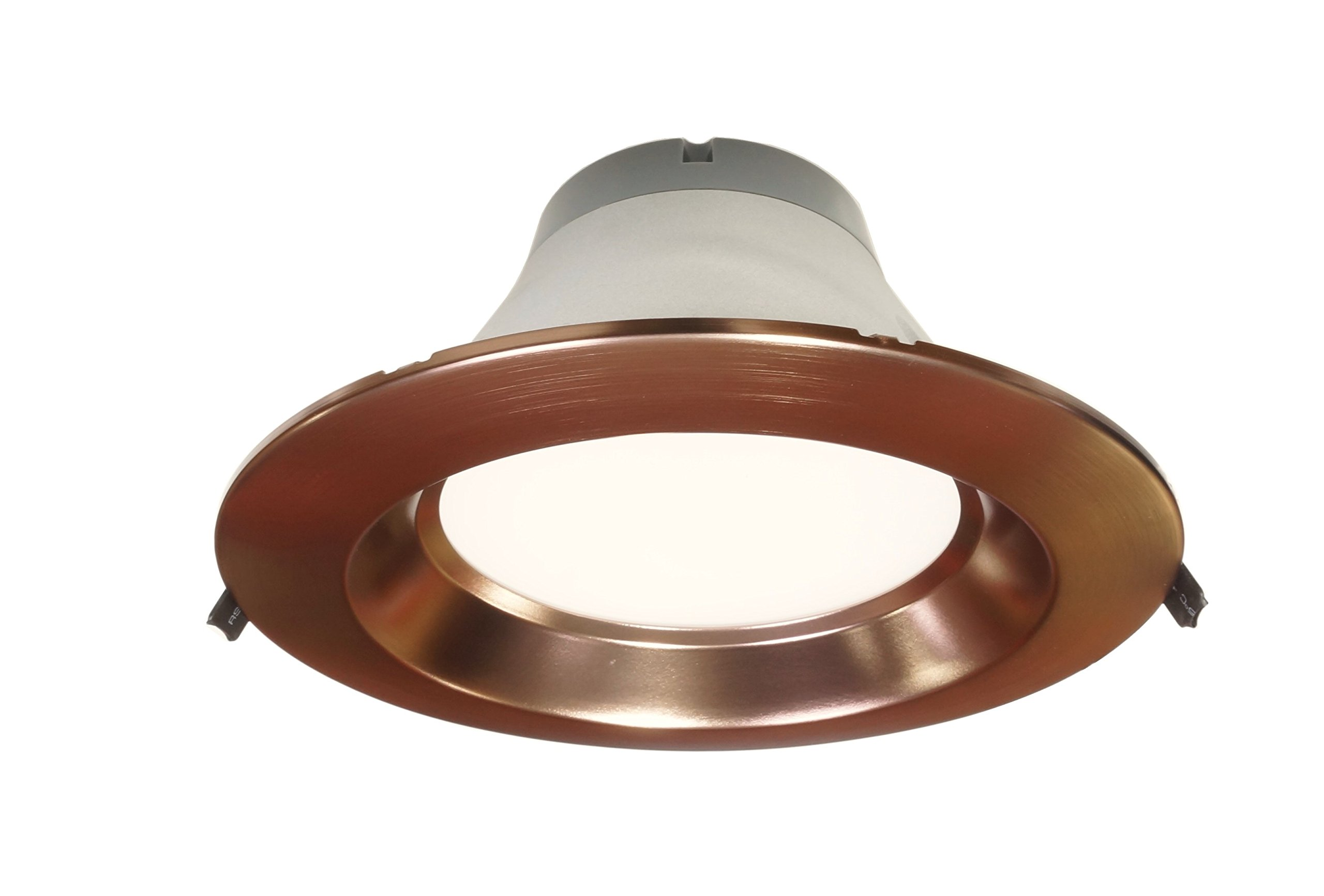 NICOR Lighting Dimmable 4000K Commercial LED Recessed Downlight Retrofit Kit, Oil-Rubbed Bronze (CLR8-10-UNV-40K-OB)