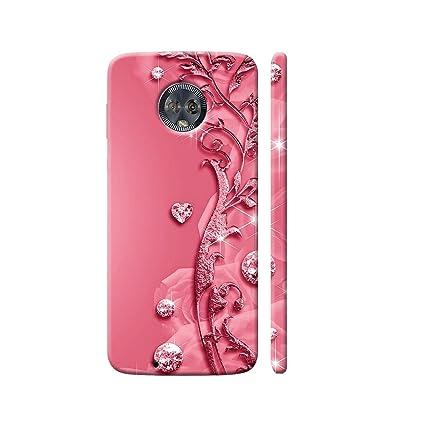 newest d7e41 13ac6 Clapcart Moto G6 Designer Printed Back Cover for Moto G6 / Motorola Moto G6  -Pink Color (Heart Design Print for Girls)